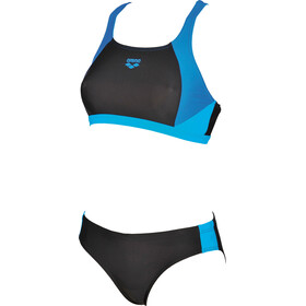 arena Ren Two Piece Bikini Dames, black-pix blue-turquoise